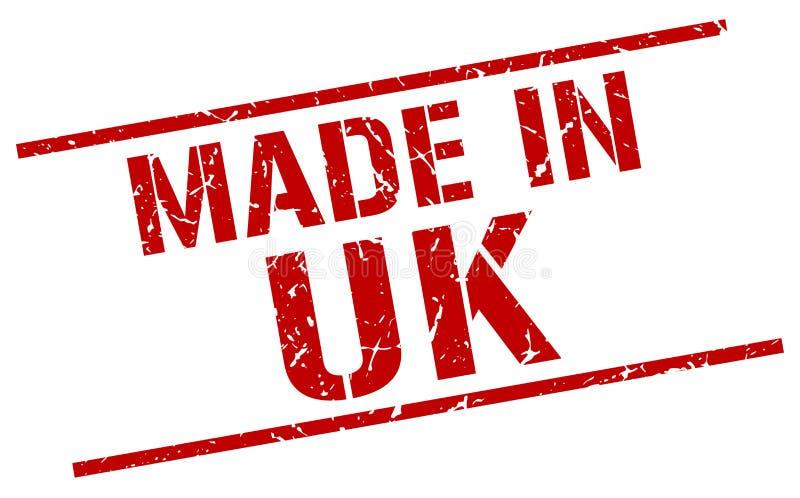 做在英国邮票 库存例证