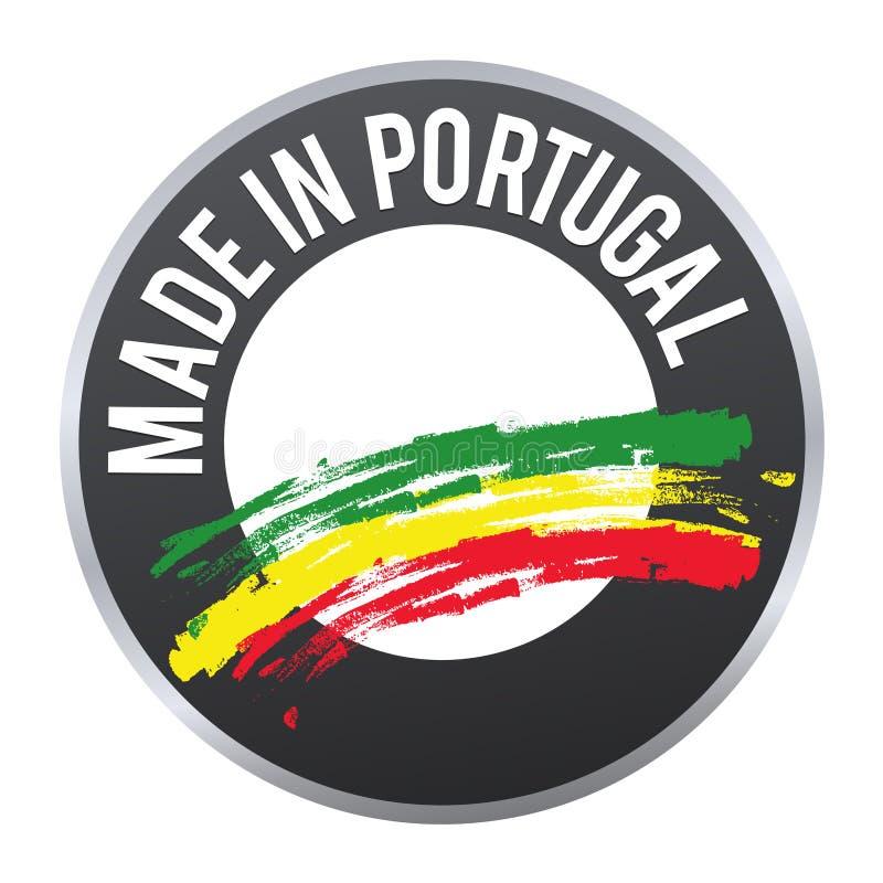 做在葡萄牙标签被证明的徽章商标 库存例证