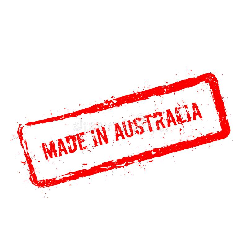 做在被隔绝的澳大利亚红色不加考虑表赞同的人  向量例证