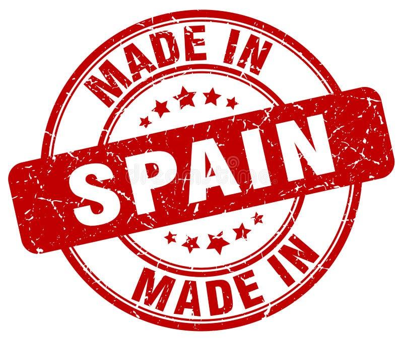 做在西班牙邮票 库存例证