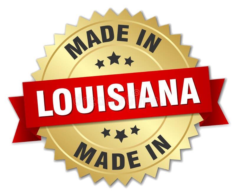 做在路易斯安那徽章 皇族释放例证
