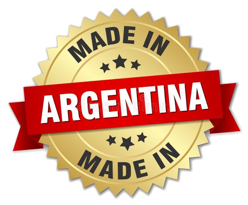 做在阿根廷徽章 向量例证