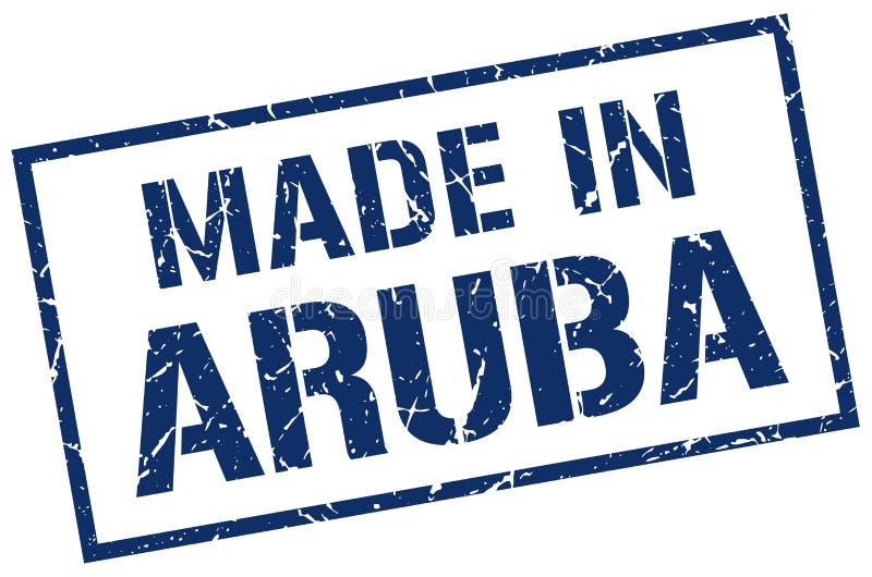 做在阿鲁巴邮票 库存例证