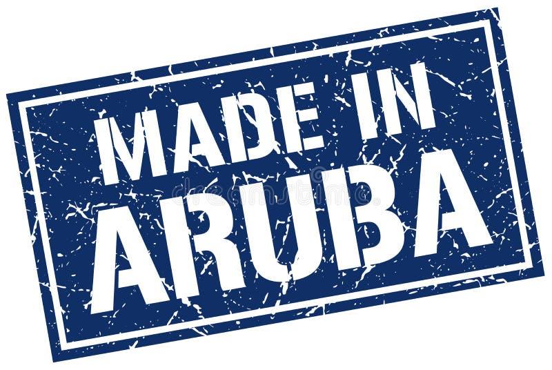 做在阿鲁巴邮票 皇族释放例证