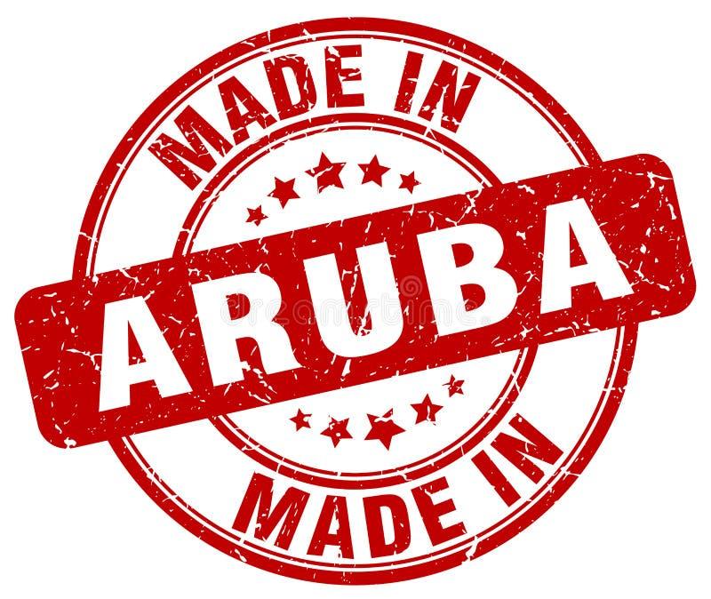做在阿鲁巴邮票 向量例证
