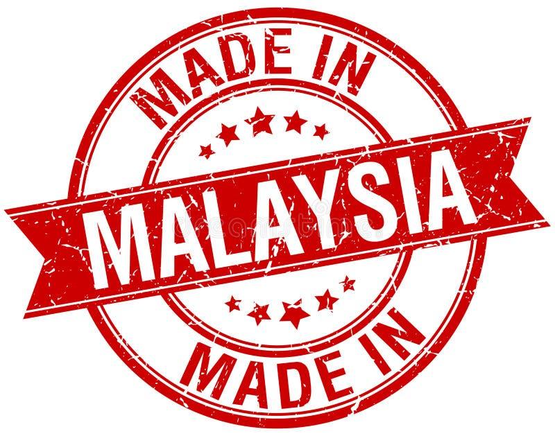 做在马来西亚红色圆的邮票 库存例证