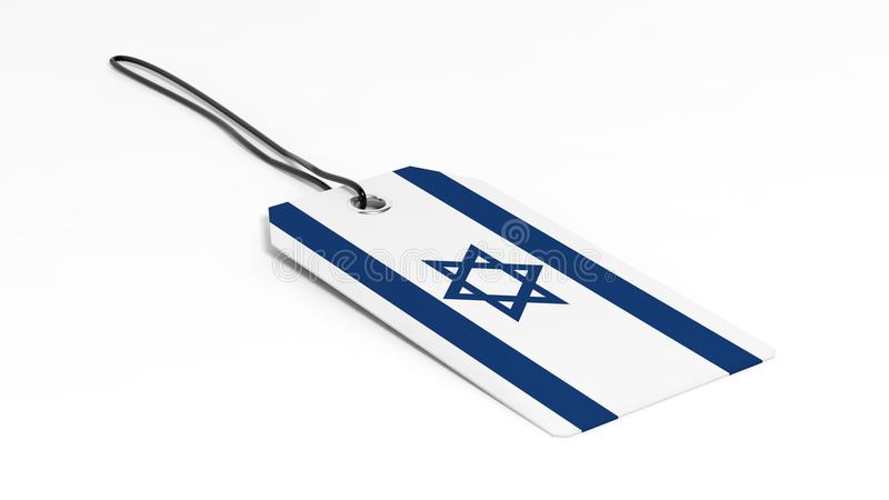 做在以色列与国旗的价牌 库存例证