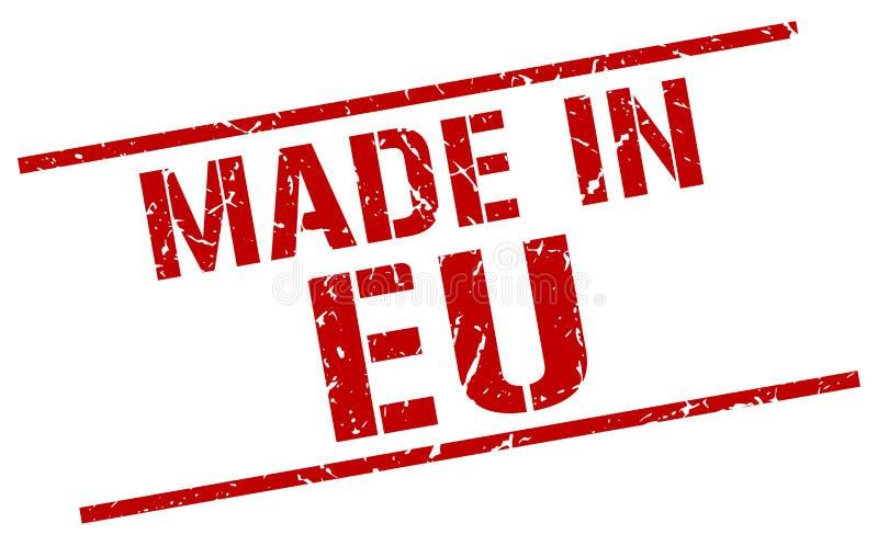 做在EU邮票 向量例证