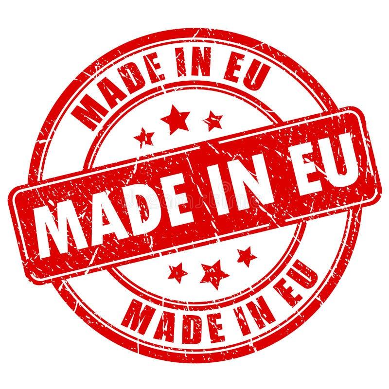 做在EU邮票 库存例证