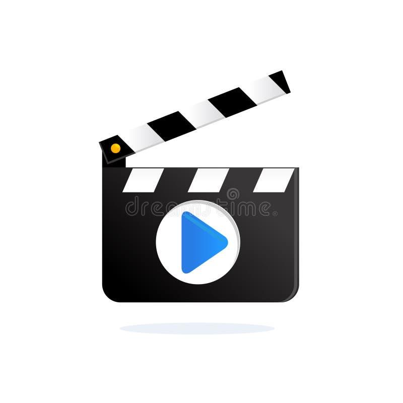 做墙板的电影 主任的拍板传染媒介 库存例证