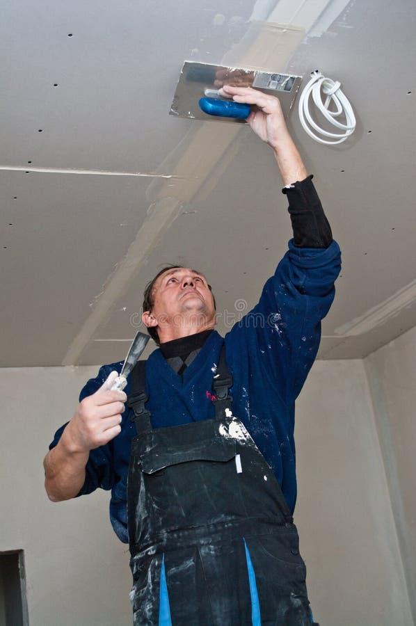 做天花板的干燥waller 库存照片