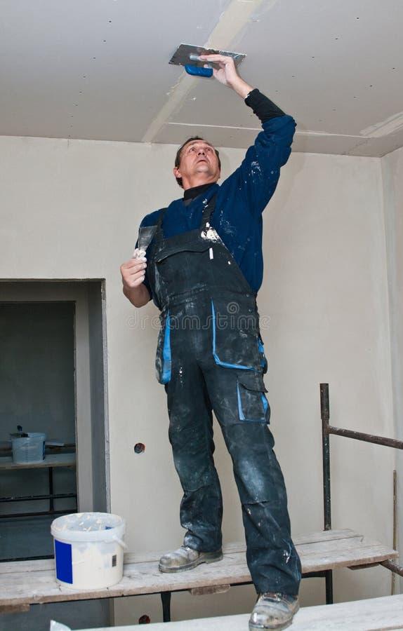 做天花板的干燥waller 免版税库存图片