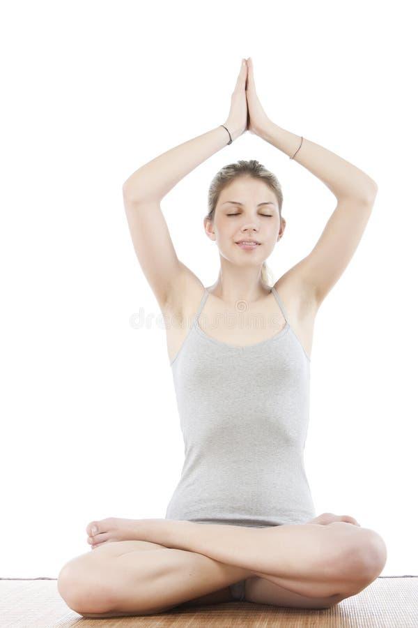 做女子瑜伽年轻人 库存图片