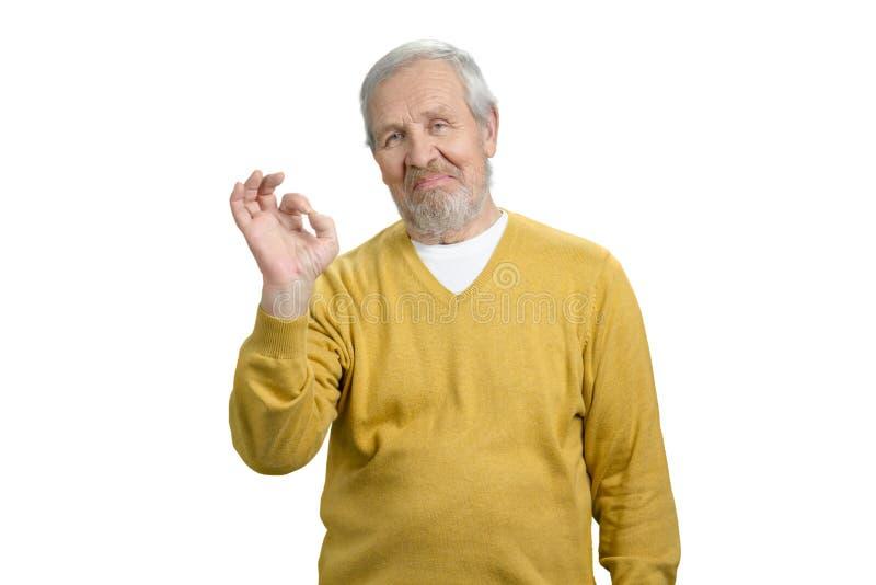 做好姿态的老祖父画象 免版税图库摄影