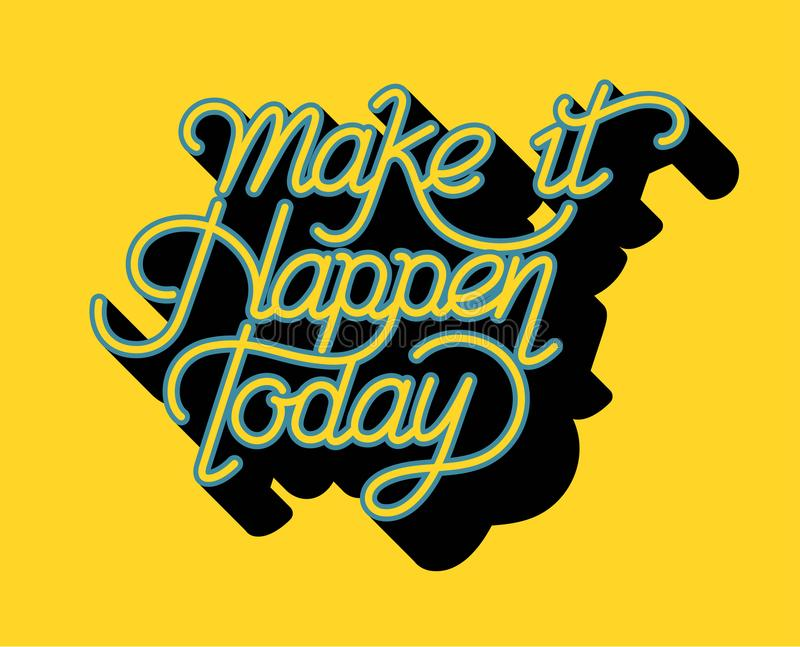 做它今天发生激动人心的行情 向量例证
