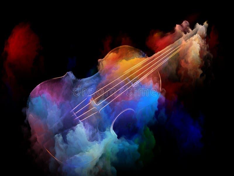 做小提琴梦想 皇族释放例证