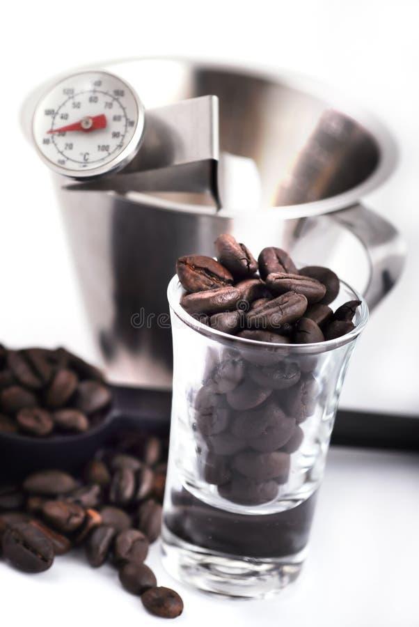 做工具的咖啡 图库摄影