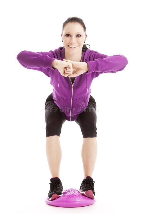 女性运动员平衡 库存照片