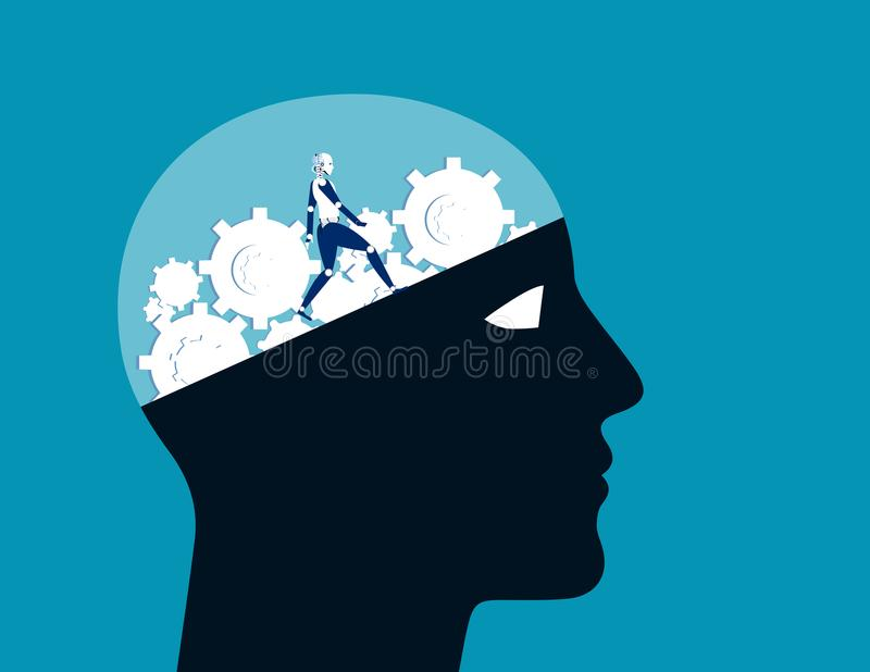 做并且修理 技术做或修理脑子 概念aut 皇族释放例证