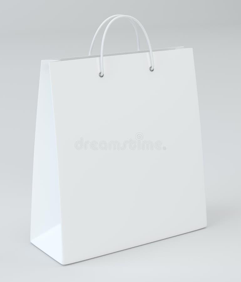 做广告和烙记的空的购物袋 3d翻译 皇族释放例证