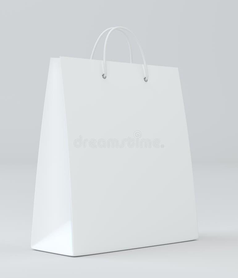 做广告和烙记的空的购物袋 3d翻译 向量例证