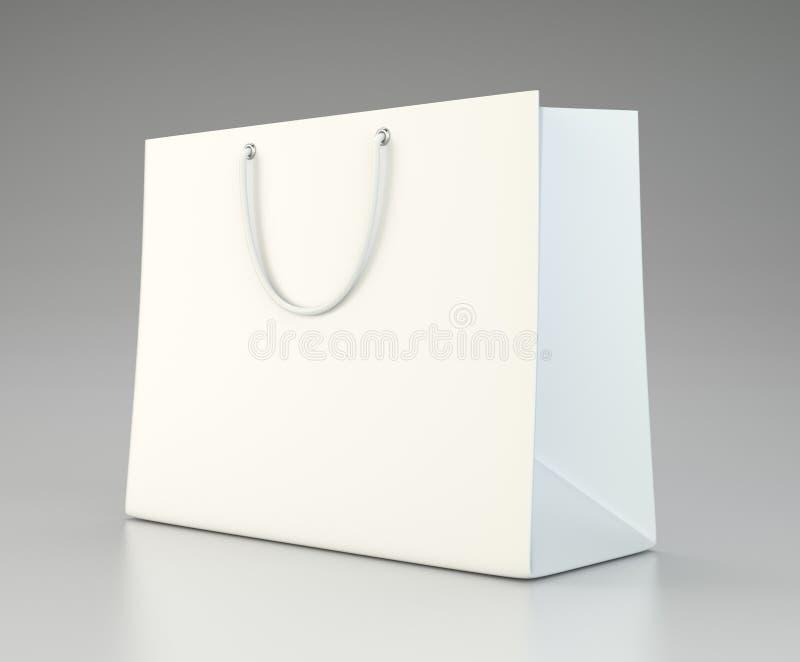 做广告和烙记的空的购物袋 皇族释放例证