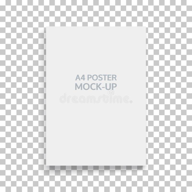 A4估量了风景导向杂志或编目的大模型 空白的纸片 做广告的元素和增进 库存例证