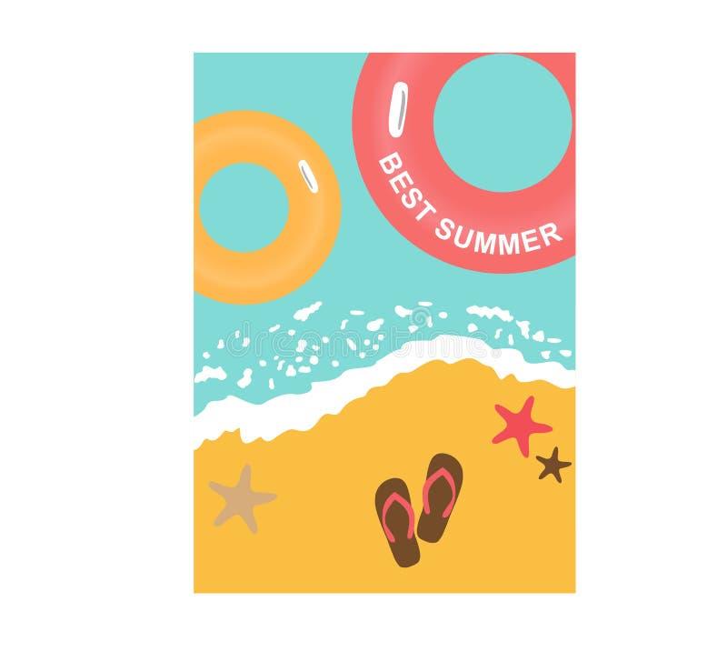 做广告的夏天海报 向量例证