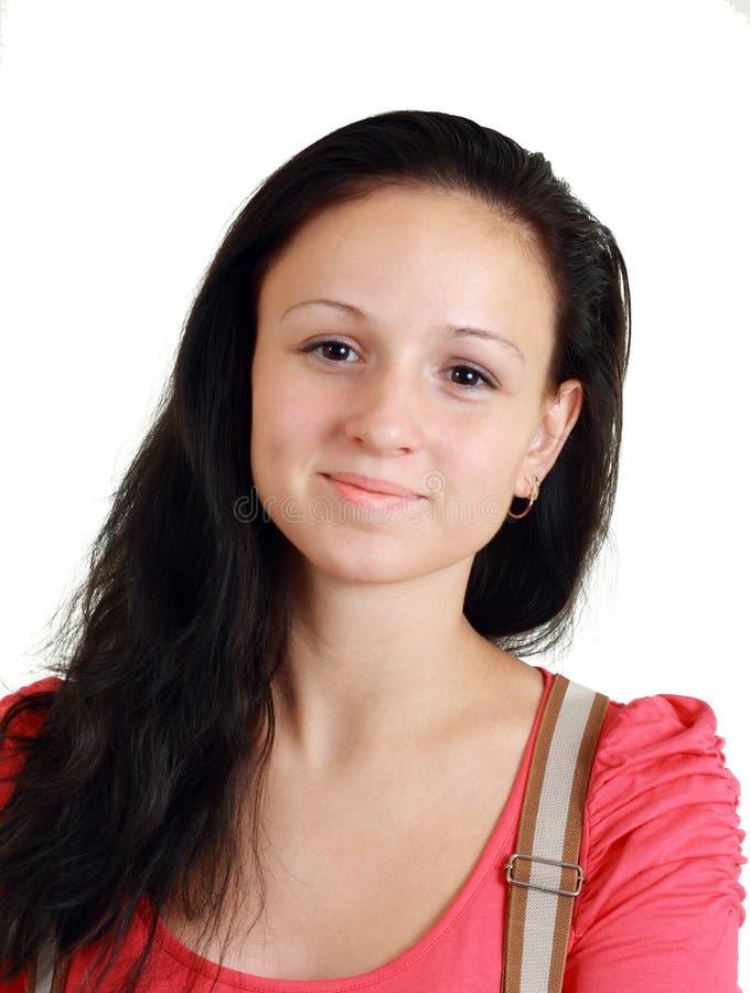做微笑妇女年轻人 库存图片