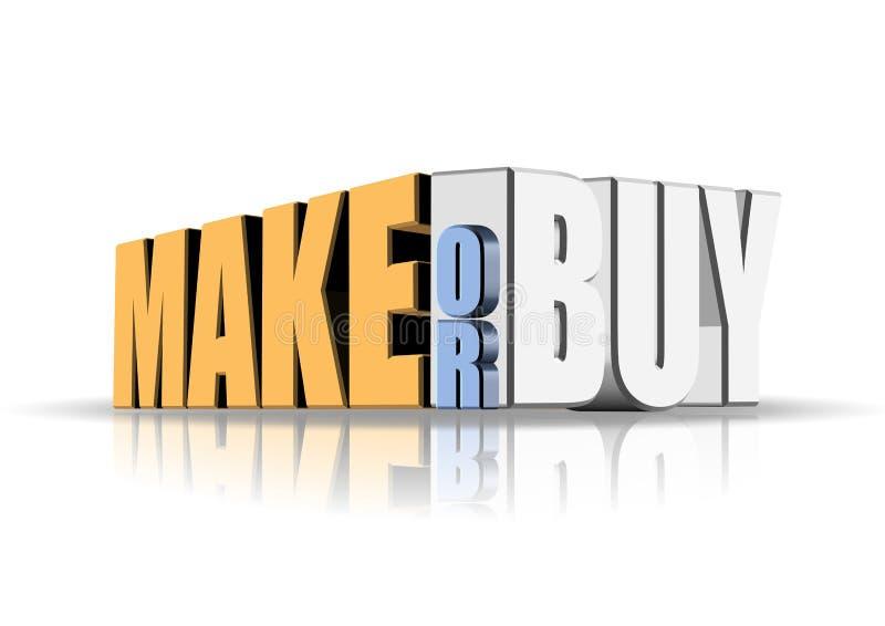 做或买 向量例证