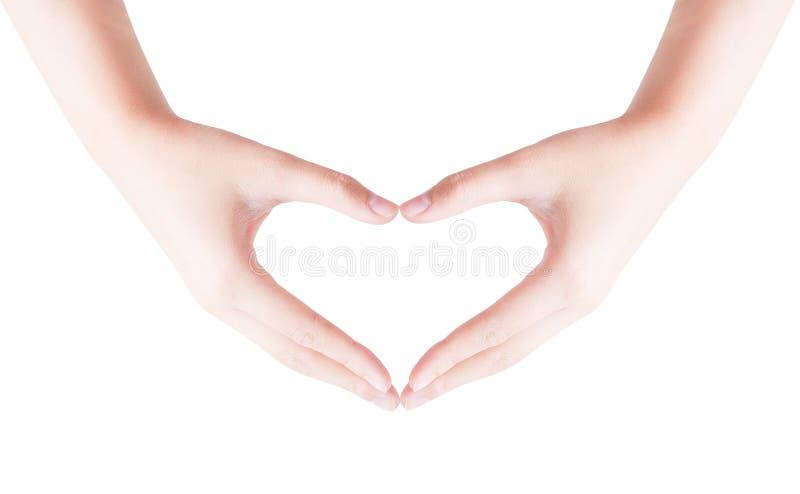 做手的心脏形状 库存照片