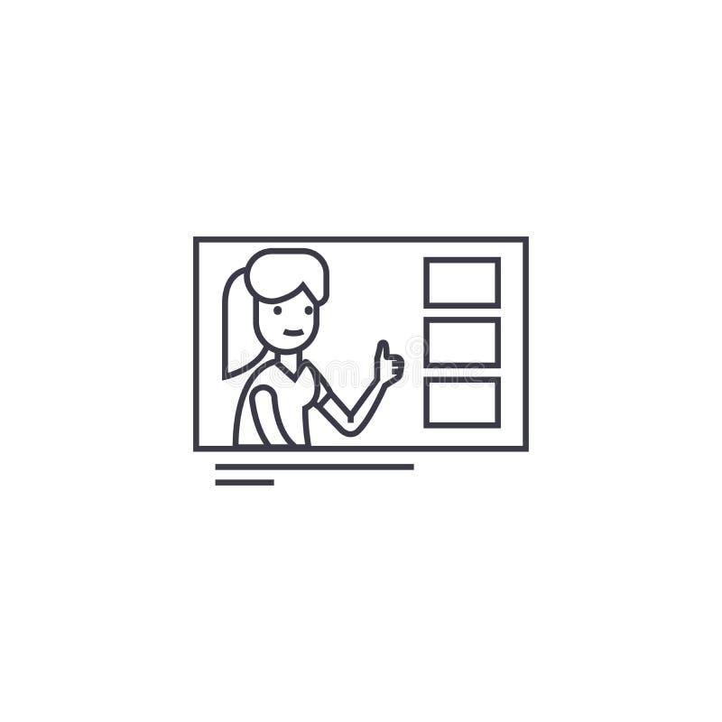 做挑选传染媒介排行象,标志,在背景,编辑可能的冲程的例证 库存例证