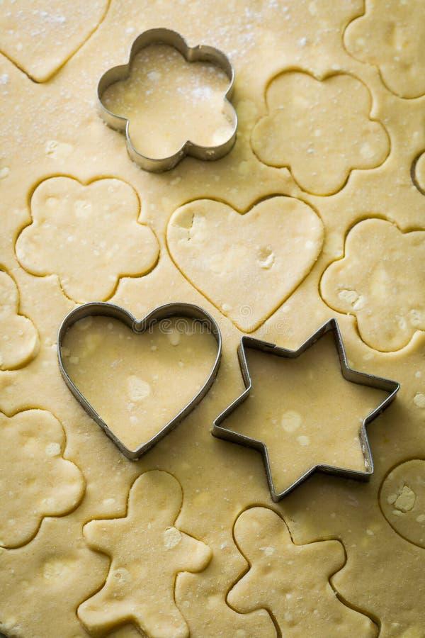 做新鲜的成份自创黄油曲奇饼 库存照片
