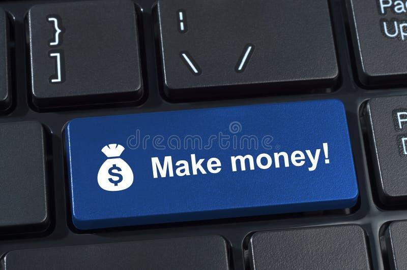 做有象袋装和美元的符号的金钱按钮。 向量例证