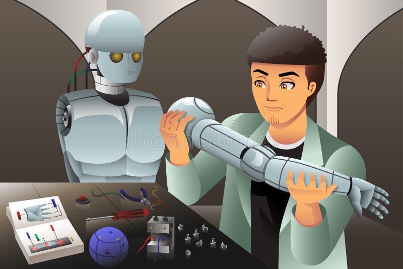 做机器人的人 皇族释放例证