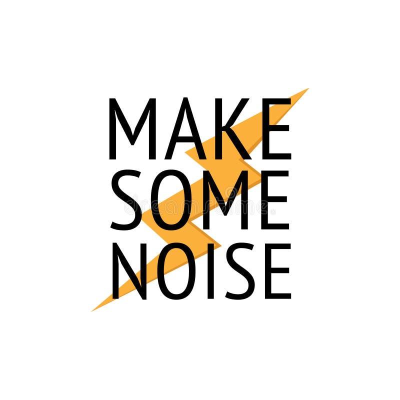 做某一噪声T恤杉印刷品设计 富启示性的创造性的刺激行情海报模板 与黄色闪电的大胆的黑文本 皇族释放例证