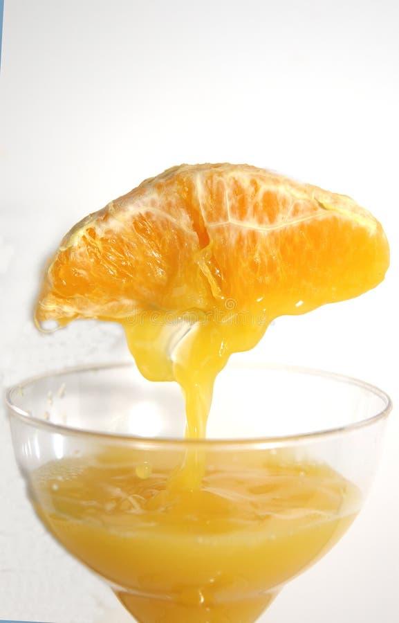 做桔子的汁液 免版税图库摄影