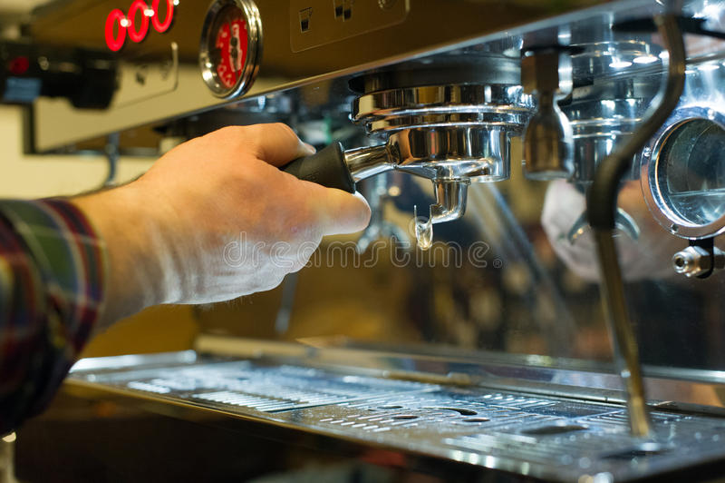 做浓咖啡咖啡 免版税库存照片