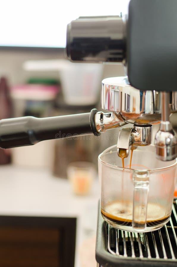 做浓咖啡射击 库存照片