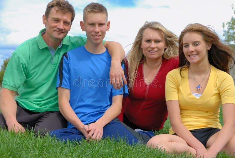 做父母十几岁 库存照片