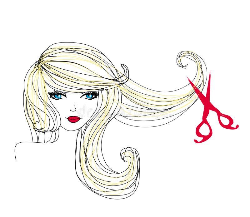 做理发的美发师 库存例证