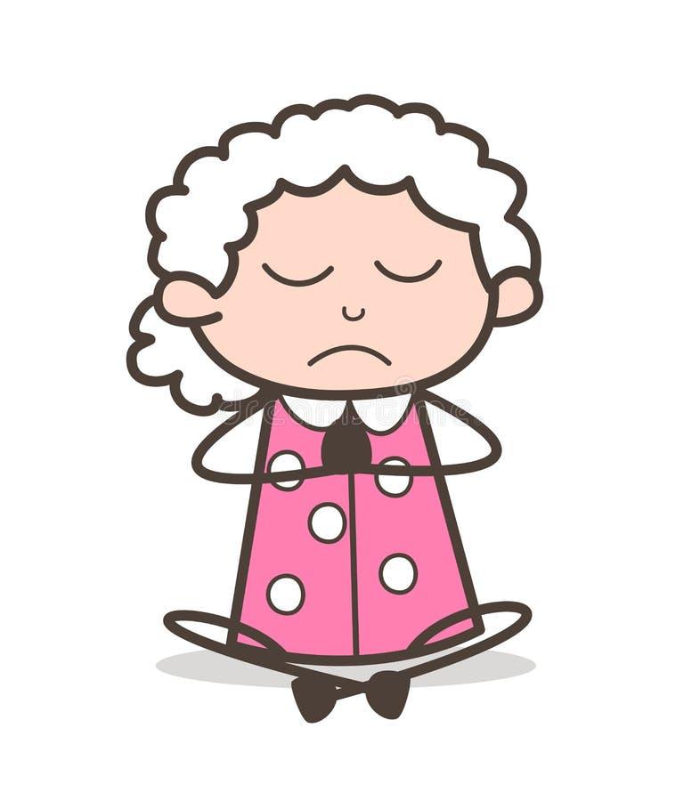 自拍老婆婆愹�_做瑜伽传染媒介例证的动画片老婆婆.
