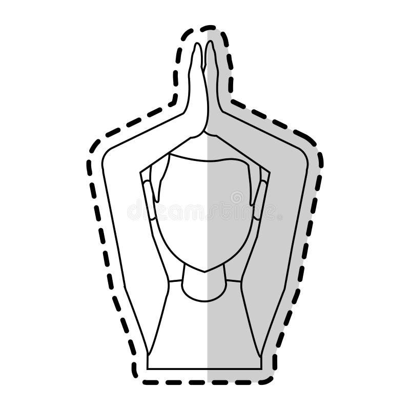 做瑜伽信奉瑜伽者象图象的人 皇族释放例证
