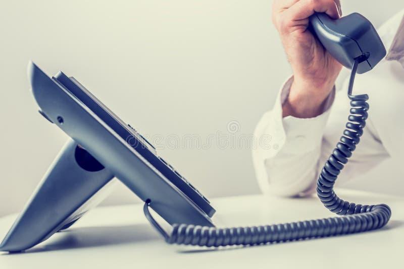做电话的购买权 库存照片