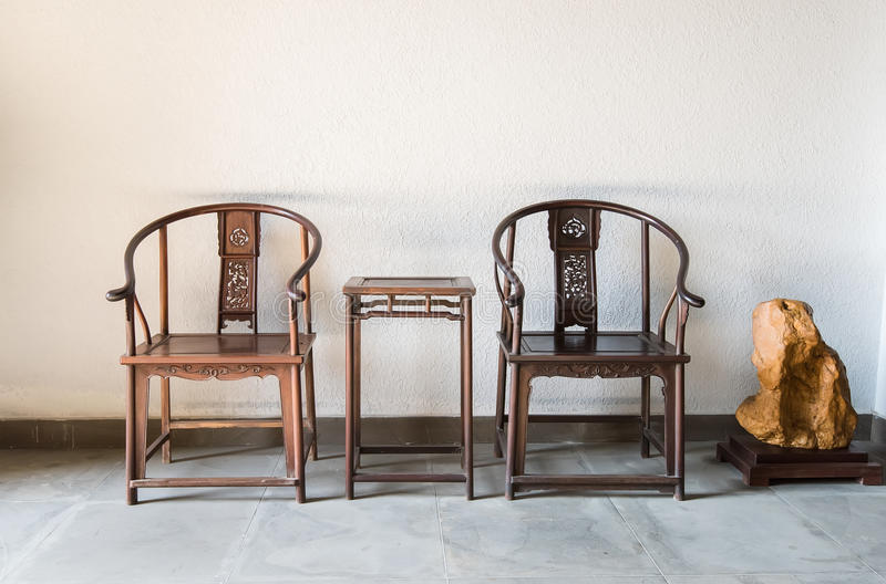 做的中国古色古香的ming的样式家具椅子 免版税库存图片