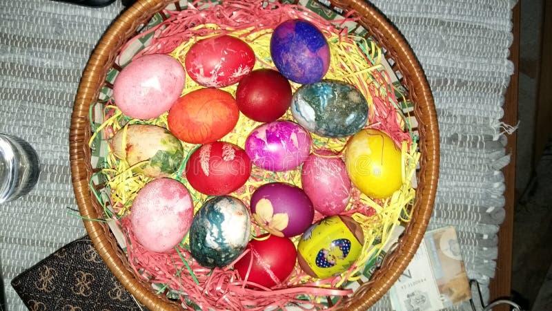做的复活节彩蛋图象 图库摄影
