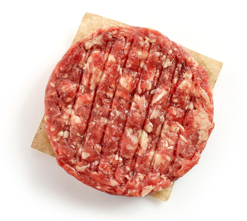 做的汉堡未加工的肉末 免版税图库摄影