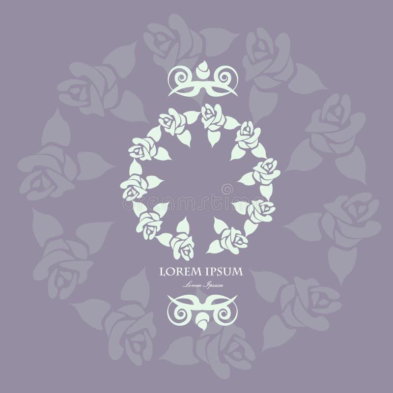 做的花卉框架  皇族释放例证