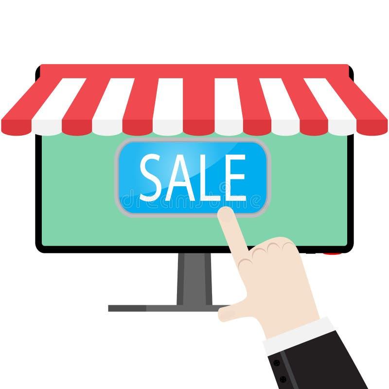 做网上购买 向量例证