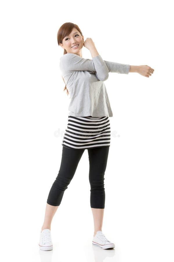 健身亚洲人 免版税库存照片